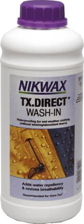 Nikwax TX.Direct 1 l , violetti/valkoinen 2018 Tekstiilien kyllästäminen