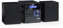 MC-20 DAB Micro-Stereoanläggning DAB+ Bluetooth Fjärrkontroll Svart