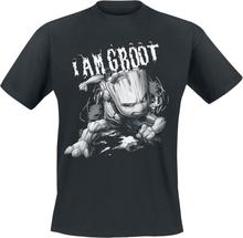 Guardians Of The Galaxy - I Am Groot -T-skjorte - svart