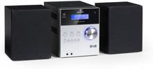 MC-20 DAB Micro-Stereoanläggning DAB+ Bluetooth Fjärrkontroll Silver