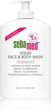 Sebamed liquid face&body wash pump