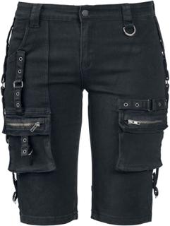 Fashion Victim - Strap Shorts -Shorts - svart