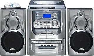 Stereoanlæg Karcher KA 5300 CD, Kassette, MW, Pladespiller, FM Sølv