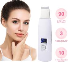 Ultrasound Skin Scrubber Face Pore Cleaner Peeling Facial Massager Beauty Device Face Lift Tighten Wrinkle Removal
