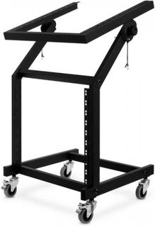 Rack-ställ 48 cm (19'') 21 nivåer, hjul, lutningsbar