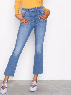 Gina Tricot Nicole Kickflare Jeans Bootcut & Flare Mid Blue