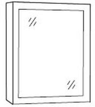 Spegelskåp Loreto E60 (vitlackad)