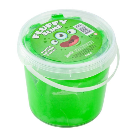 Spralla Fluffy Slime Grön