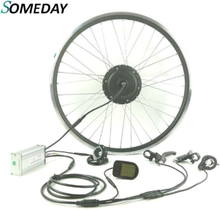 SOMEDAY Electric Bicycle conversion kit 36V500W E-BIKE front wheel hub motorwith LCD5 display Whole Waterproof Cable