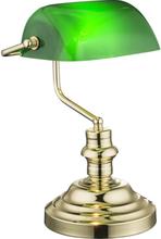 GLOBO Bordslampa ANTIQUE mässing grön 2491K