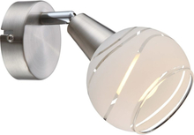 GLOBO Spotlight LED ELLIOTT nickel matt 54341-1