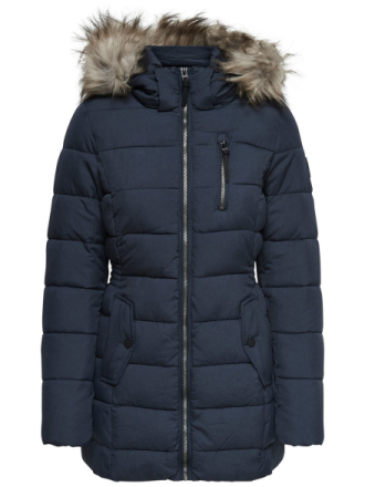 ONLY Nylon Quilted Jacket Women Blue