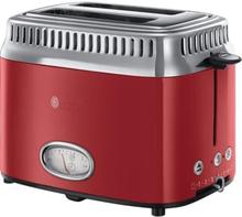 RUSSELL HOBBS 21680-56 - Leivänpaahdin Retro - 2 lähtö - 1300 W - punainen