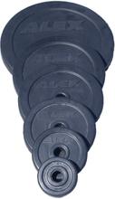 Alex viktskivor i gummi 1,25 kg
