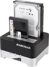 Basetech BT-DOCKING-02 SATA USB 3.2 Gen 1 (USB 3.0 2 porte Harddisk-dockingstation med Clone-funktion