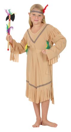 Sjungande Skallerormen - Indiandräkt i barnstorlek till kalaset 104 - 116 cm (4 - 6 år)