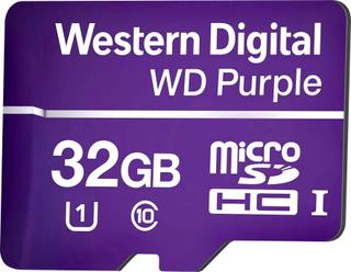 Western Digital WD Purple MicroSDHC-kort 32 GB Class 10, UHS-I Optimeret til 24 timers drift