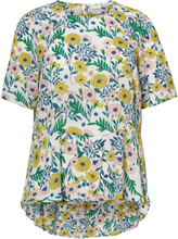JUNAROSE Flowered Blouse Women White