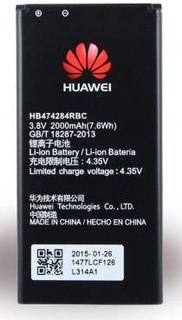 HUAWEI Mobilbatteri Passer til model (mobiltelefoner): Huawei Y5, Huawei Y625, Huawei Y635, Huawei Ascend G615, Huawei Ascend G620s 2000 mAh Bulk/OEM