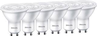 Philips Lighting LED GU10 Reflektor 4.7 W = 50 W Varmhvid (Ø x L) 50 mm x 54 mm Energiklasse: A+ (A++ - E) 6 stk