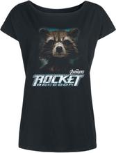 Avengers - Endgame - Rocket Raccoon -T-skjorte - svart