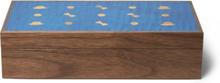Wooden Cufflink Box - Brown