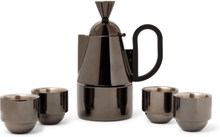 Brew Coated Stainless Steel Stovetop Set - Black