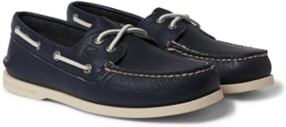 Authentic Original Leather Boat Shoes - Navy