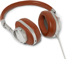 Mw60 Leather Wireless Over-ear Headphones - Brown