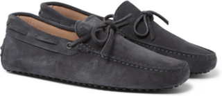 Gommino Suede Driving Shoes - Dark gray