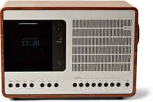 Superconnect Walnut And Aluminium Radio - Silver