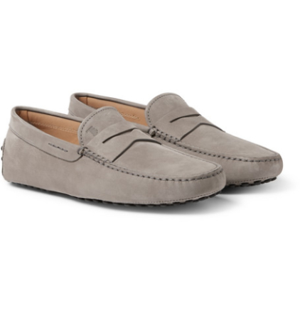 Gommino Nubuck Driving Shoes - Gray