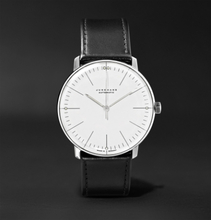Junghans - Max Bill Automatic 38mm Stainless Steel And Leather Watch, Ref. No. 027/3501.00 - White