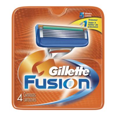 Gillette Fusion Partaterät 4 kpl