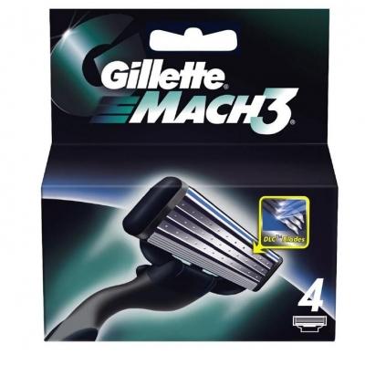 Gillette Mach3 Partaterät 4 kpl