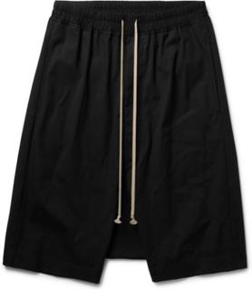 Pod Stretch-cotton Shorts - Black