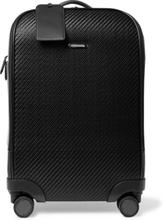 Pelletessuta Leather Carry-on Suitcase - Black
