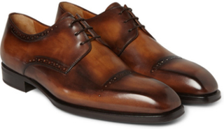 Leather Derby Shoes - Brown