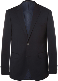 Blue Jeremy Virgin Wool-piqué Blazer - Navy
