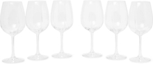 Exploreur Classic Set Of Six Wine Glasses - Clear