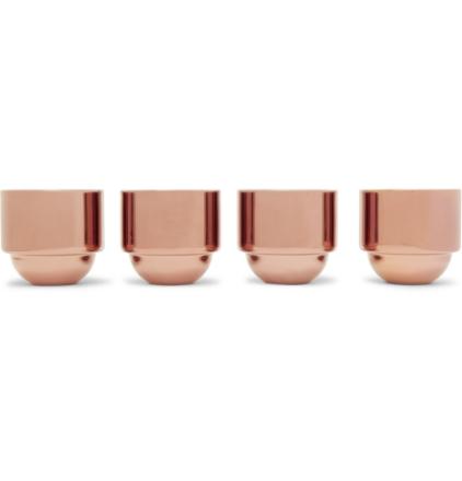 Brew Set Of Four Copper-plated Espresso Cups - Copper
