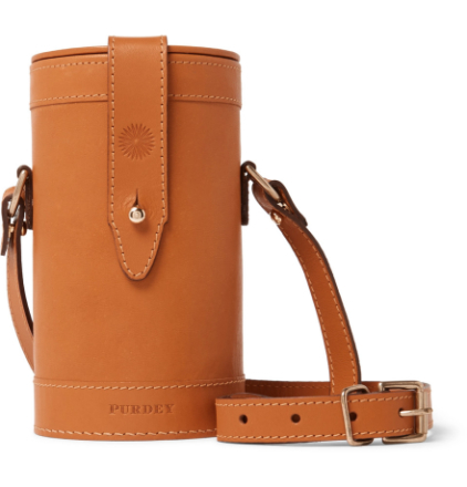 Leather And Glass Flask Set - Tan