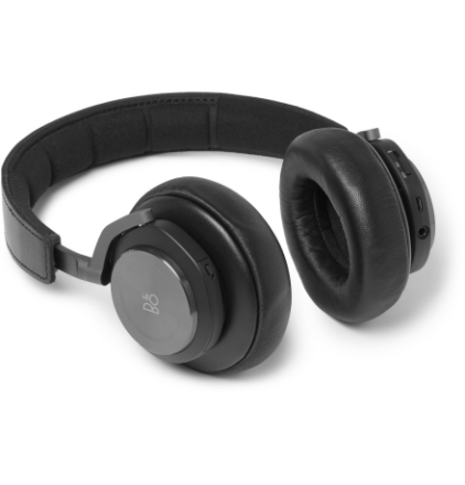 H7 Leather Wireless Headphones - Black