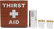 Thirst Aid Wood Veneer And Sterling Silver Drinks Kit - Silver