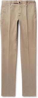Four Season Slim-fit Cotton-blend Chinos - Neutral