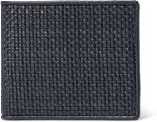Pelle Tessuta Leather Billfold Wallet - Navy