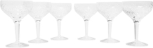 Barwell Set Of Six Cut Crystal Champagne Coupes - Clear