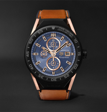 + Tag Heuer Connected Modular 45mm Ceramic And Leather Smart Watch - Blue