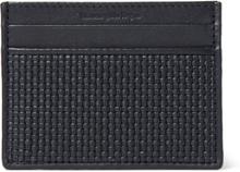 Pelle Tessuta Leather Cardholder - Navy