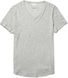 Ob-v Slim-fit Cotton-jersey T-shirt - Gray